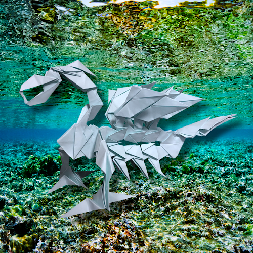 りょうすけ@組み立て折神工房Assembly Origami Workshopさんによる「ティルス・レバノント」 26枚の折り紙