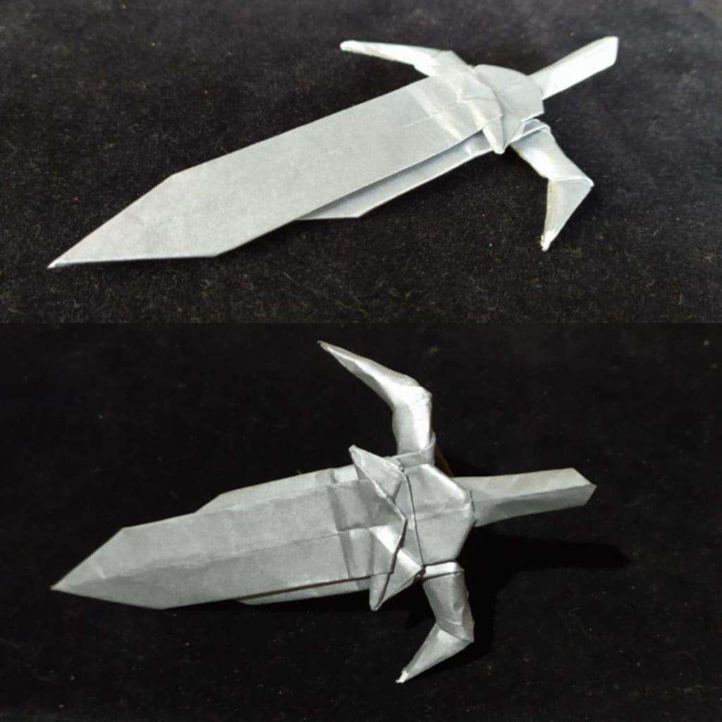 ハディさんによる剣の折り紙