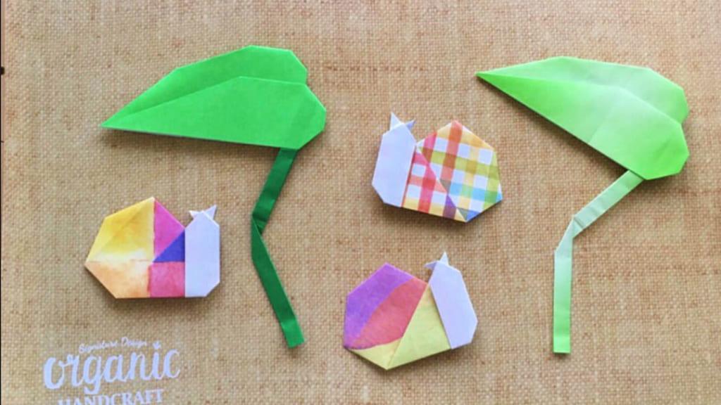 Oriya小町さんによる葉っぱの傘の折り紙
