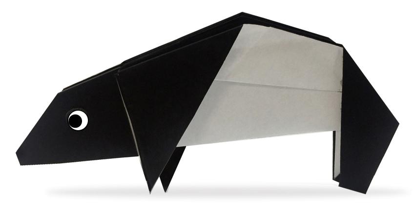 おりがみくらぶ(新宮文明)さんによるばくの折り紙
