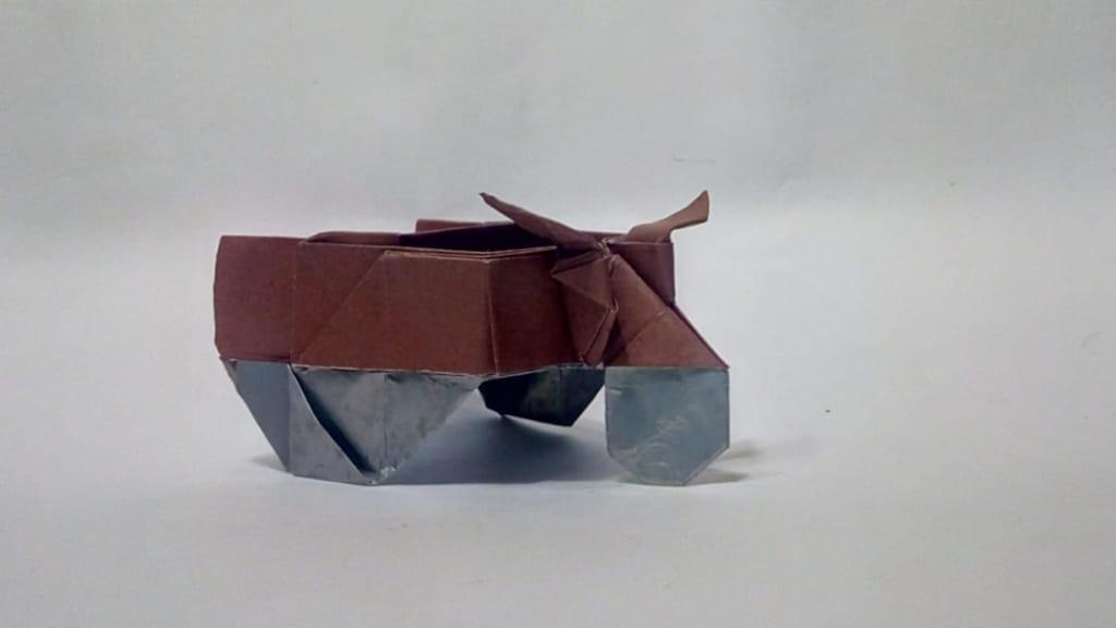 ハディさんによるクライネス・ケッテンクラフトラート(Kleines Kettenkraftrad、Sd.Kfz 2)の折り紙