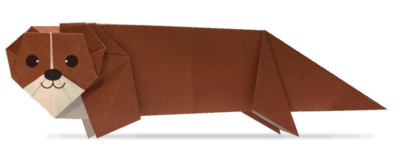 おりがみくらぶ(新宮文明)さんによるかわうその折り紙