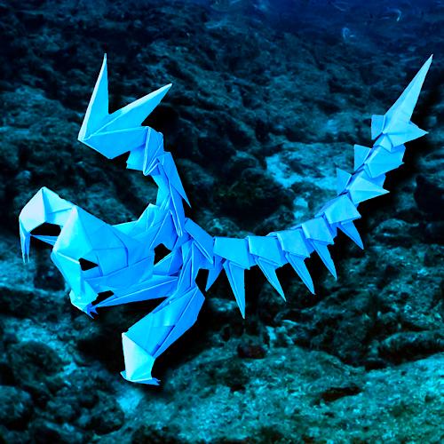 りょうすけ@組み立て折神工房Assembly Origami Workshopさんによる「海蟷螂」 20枚の折り紙