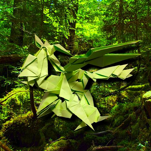 りょうすけ@組み立て折神工房Assembly Origami Workshopさんによる「森下龍バルトルギー」 19枚の折り紙