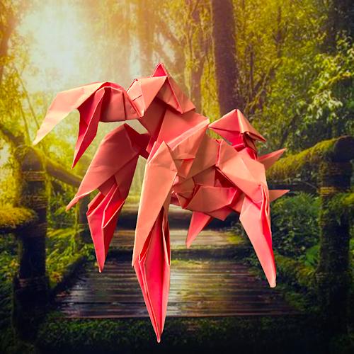 りょうすけ@組み立て折神工房Assembly Origami Workshopさんによる「アラトロン・サーヴァント」 15枚の折り紙