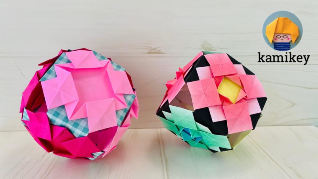 カミキィさんによるあじさいてまりの折り紙