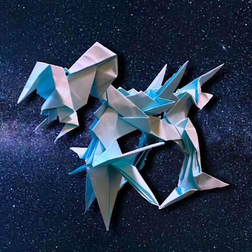 りょうすけ@組み立て折神工房Assembly Origami Workshopさんによる「スター・カルタス」 14枚の折り紙