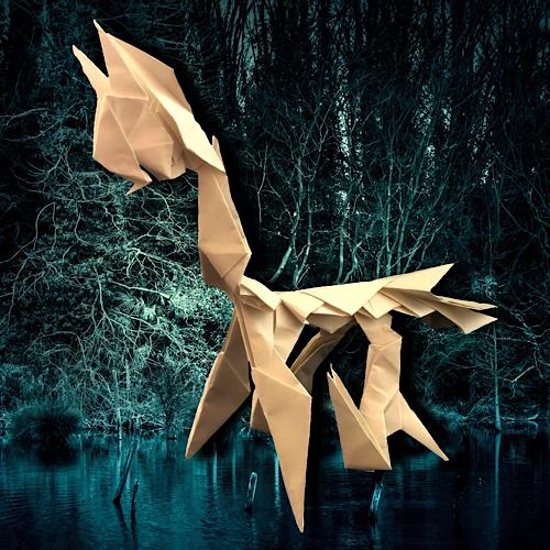 りょうすけ@組み立て折神工房Assembly Origami Workshopさんによる「デルモニア」 15枚の折り紙