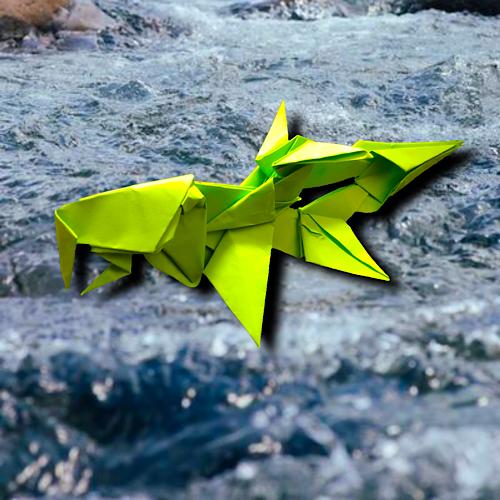りょうすけ@組み立て折神工房Assembly Origami Workshopさんによる「ヤマトイトトオシ」 6枚の折り紙