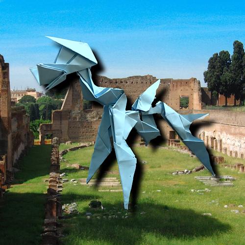 りょうすけ@組み立て折神工房Assembly Origami Workshopさんによる「アイリシカル」 13枚の折り紙
