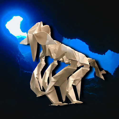 りょうすけ@組み立て折神工房Assembly Origami Workshopさんによる「カトゥル・アントス」 23枚の折り紙