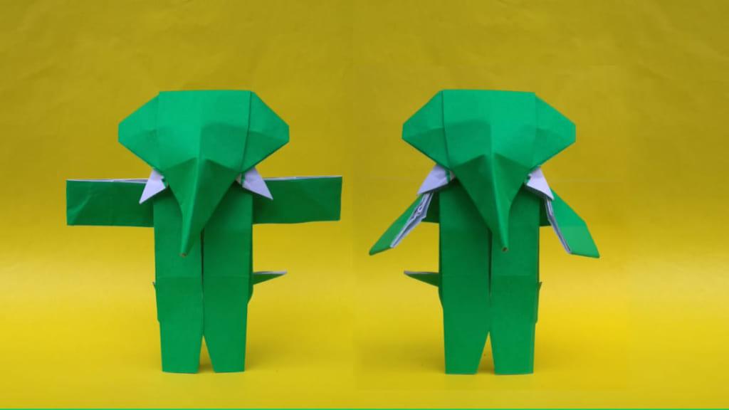 ハディさんによる擬人化象の折り紙