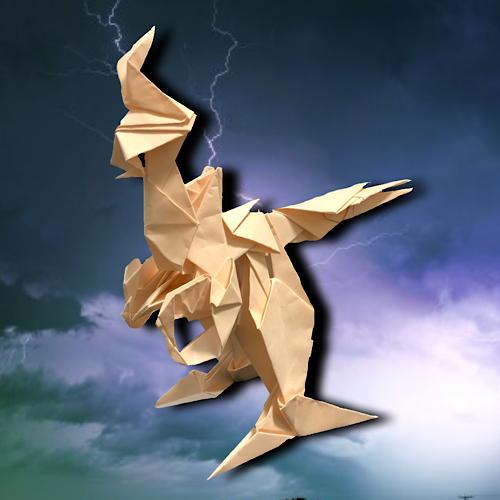 りょうすけ@組み立て折神工房Assembly Origami Workshopさんによる「リゾルト」 12枚の折り紙