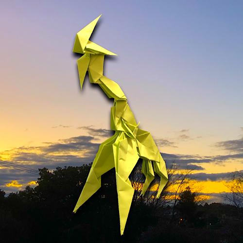 りょうすけ@組み立て折神工房Assembly Origami Workshopさんによる「テンダー」 13枚の折り紙