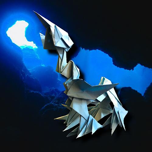 りょうすけ@組み立て折神工房Assembly Origami Workshopさんによる「シアン=ゾス」 10枚の折り紙
