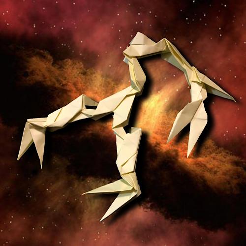 りょうすけ@組み立て折神工房Assembly Origami Workshopさんによる「ティラスター」 10枚の折り紙