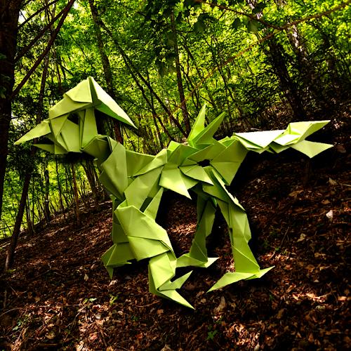 りょうすけ@組み立て折神工房Assembly Origami Workshopさんによる「イントルーダー」 20枚の折り紙