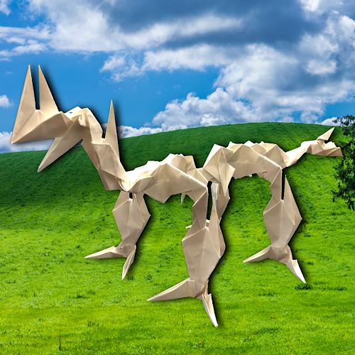 りょうすけ@組み立て折神工房Assembly Origami Workshopさんによる「グランドケイルス」 26枚の折り紙