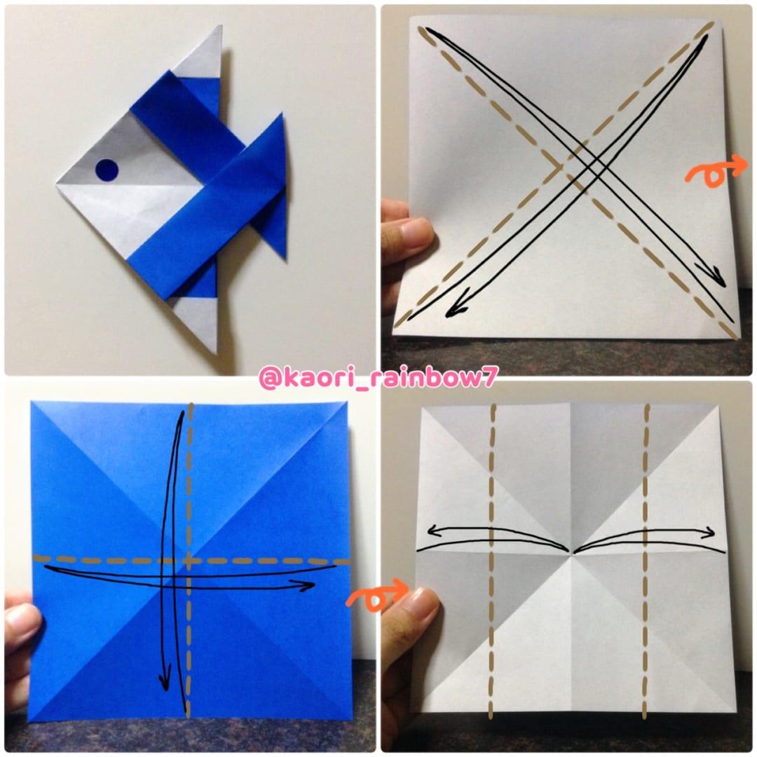 折り順について、1段目の左から右へ。2段目も同様です。
