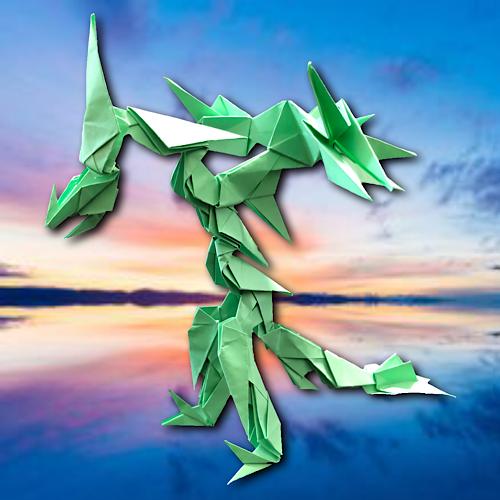 りょうすけ@組み立て折神工房Assembly Origami Workshopさんによる「バルーチャ」 20枚の折り紙