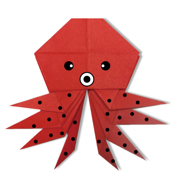 おりがみくらぶ(新宮文明)さんによるたこ2の折り紙