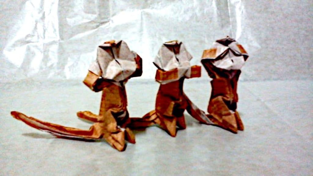 ハディさんによる猿🐒の折り紙