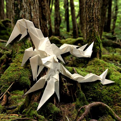 りょうすけ@組み立て折神工房Assembly Origami Workshopさんによる「カイルキロス」 20枚の折り紙