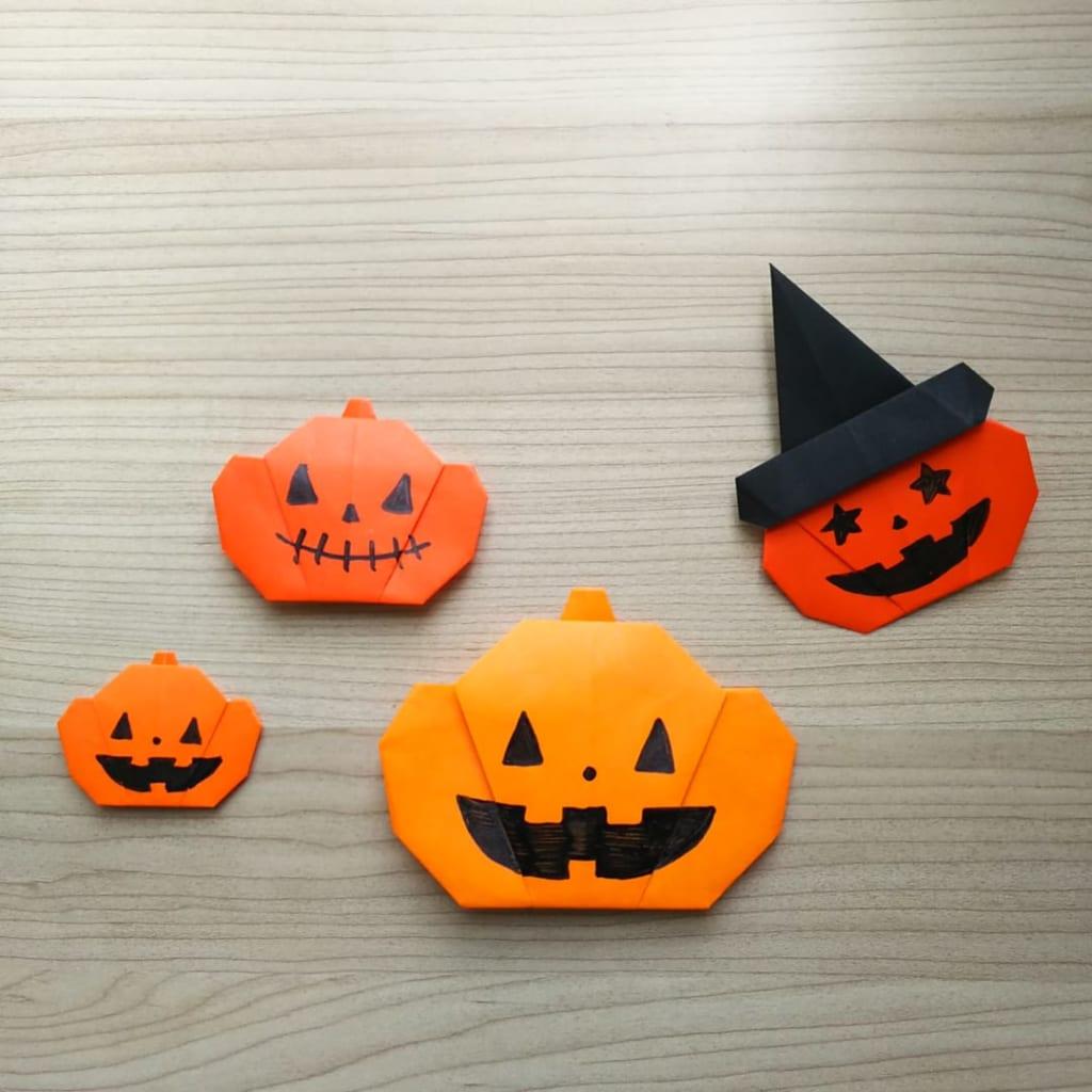 hiroko_daichanさんによるハロウィンかぼちゃの折り紙