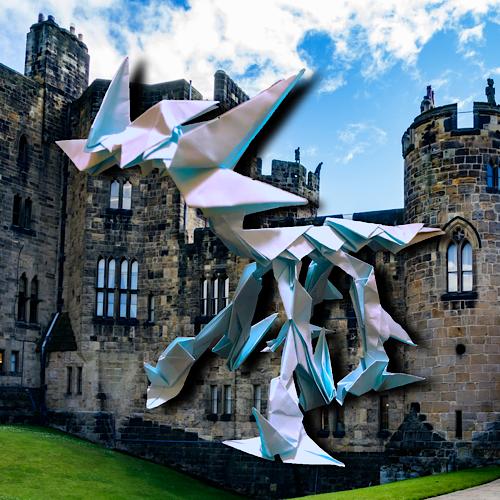 りょうすけ@組み立て折神工房Assembly Origami Workshopさんによる「サイダン」 21枚の折り紙