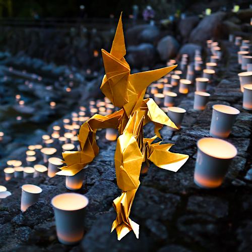 りょうすけ@組み立て折神工房Assembly Origami Workshopさんによる「テスタメント」 13枚の折り紙