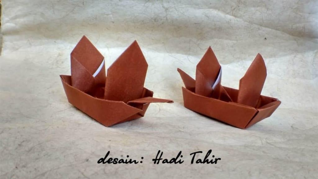 ハディさんによる帆船の折り紙