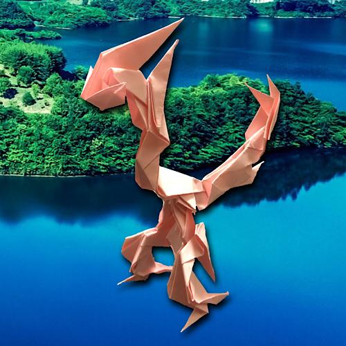 りょうすけ@組み立て折神工房Assembly Origami Workshopさんによる「エビルゼ」 9枚の折り紙