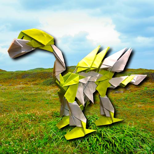 りょうすけ@組み立て折神工房Assembly Origami Workshopさんによる「タンキラス」 26枚の折り紙