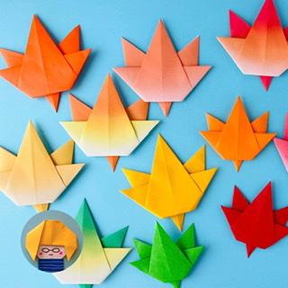カミキィさんによる簡単もみじの折り紙