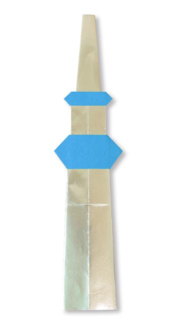 おりがみくらぶ(新宮文明)さんによるスカイツリーの折り紙