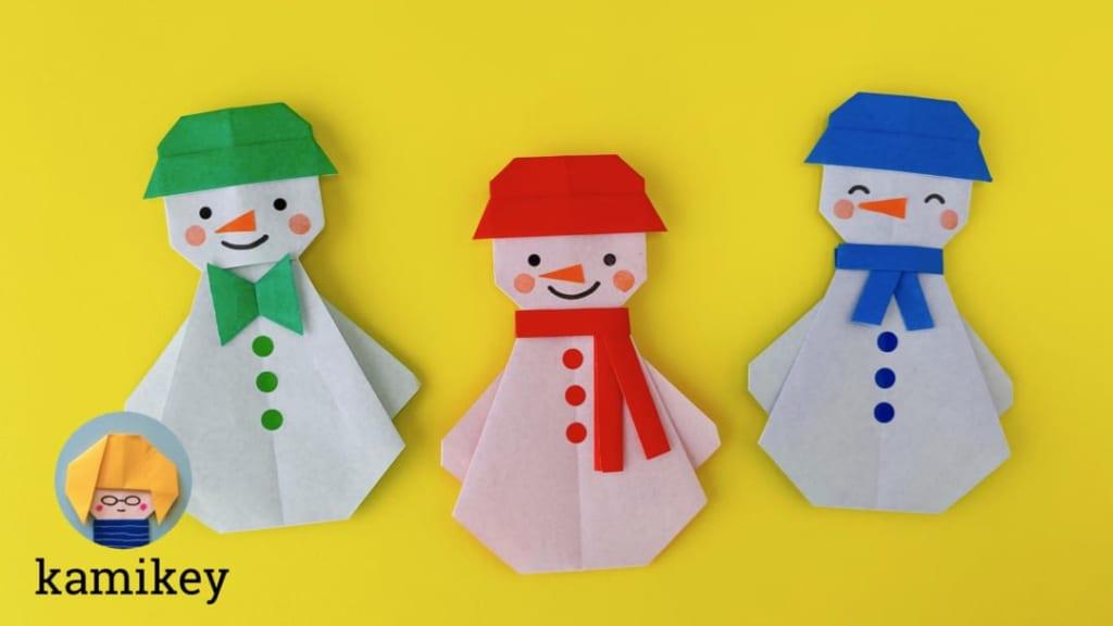 カミキィさんによる雪だるまくんの折り紙