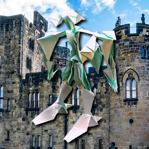 りょうすけ@組み立て折神工房Assembly Origami Workshopさんによる「カーペンター」 17枚の折り紙