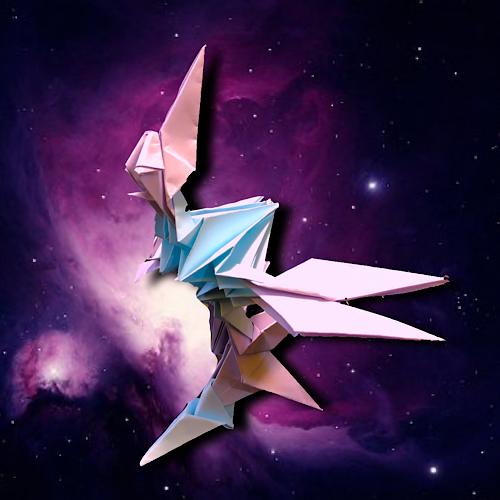 りょうすけ@組み立て折神工房Assembly Origami Workshopさんによる「スタークル」 10枚の折り紙