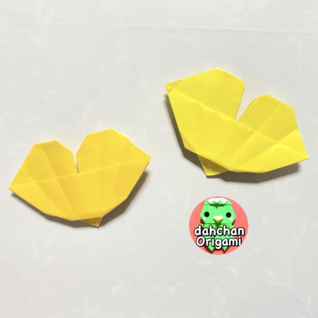 だ〜ちゃんさんによるぽってりイチョウの折り紙