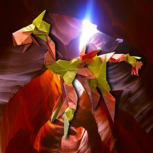 りょうすけ@組み立て折神工房Assembly Origami Workshopさんによる「プラグディルセント」 21枚の折り紙