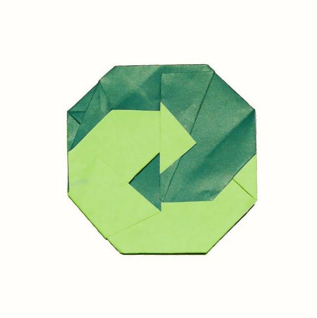 ハディさんによるグリューネ・プンクトの折り紙