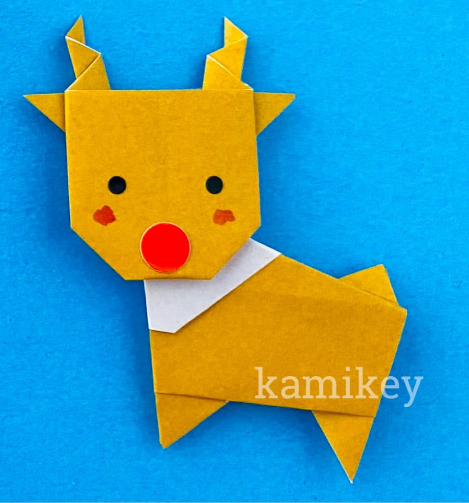 カミキィさんによるトナカイの折り紙
