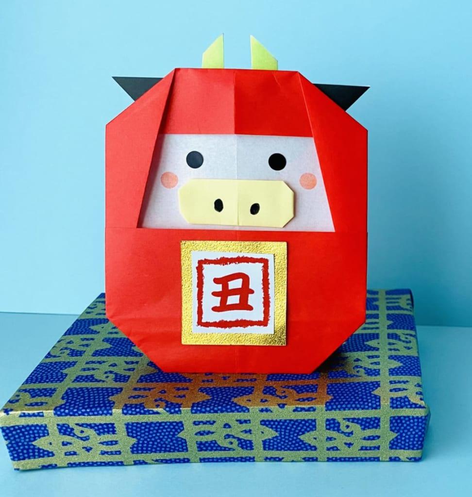 カミキィさんによるうしだるまの折り紙