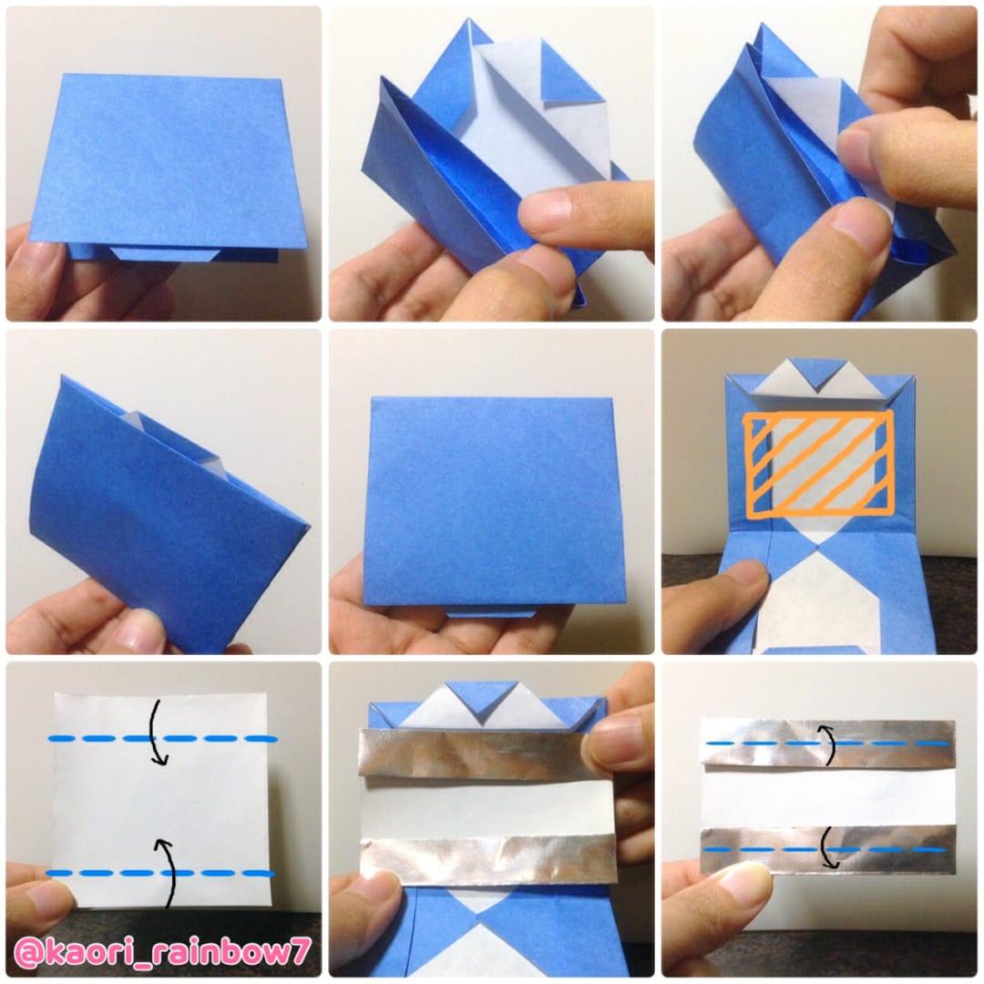 ミラー、折り紙サイズ7.5cm