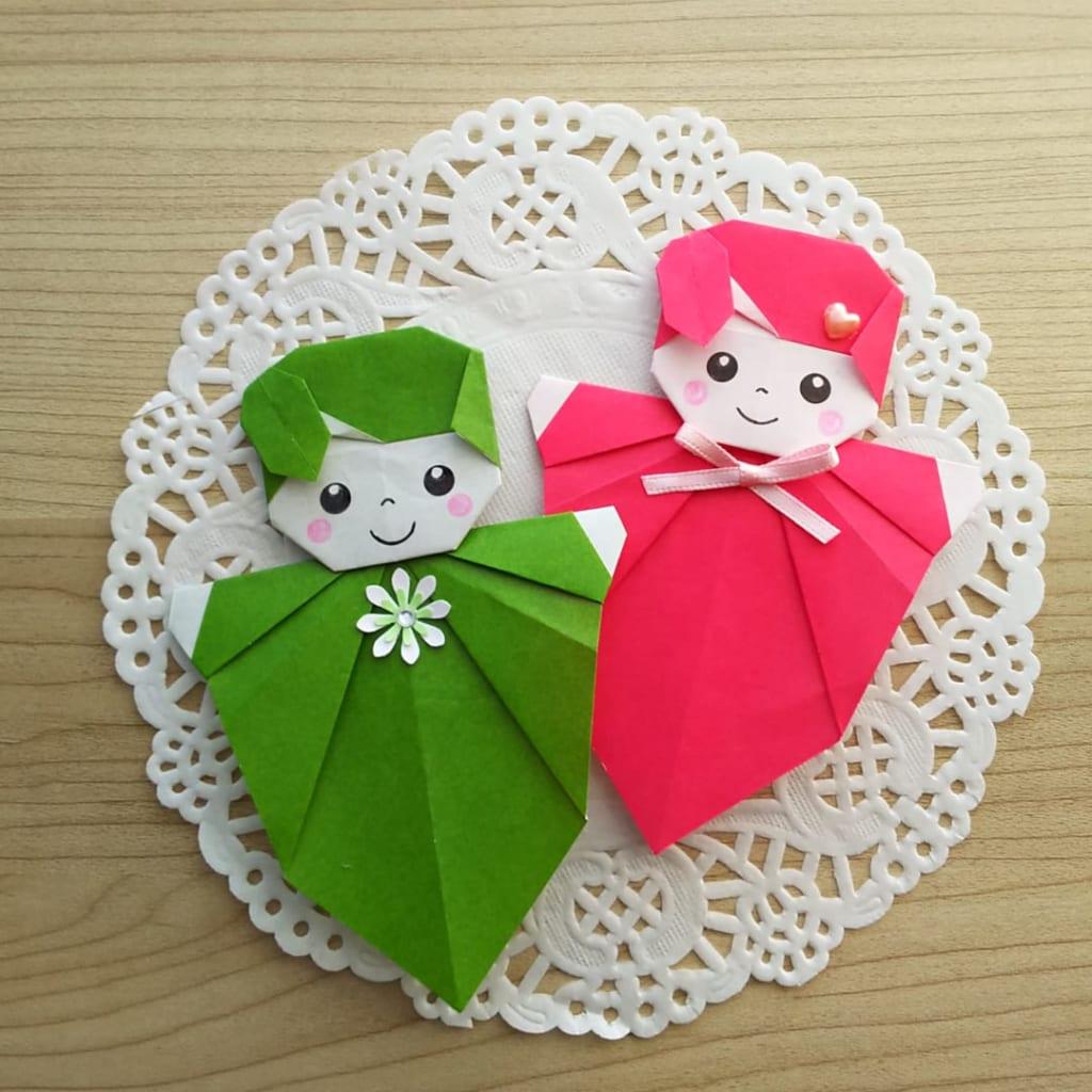 hiroko_daichanさんによる葉っぱの妖精「はっぴぃ」の折り紙