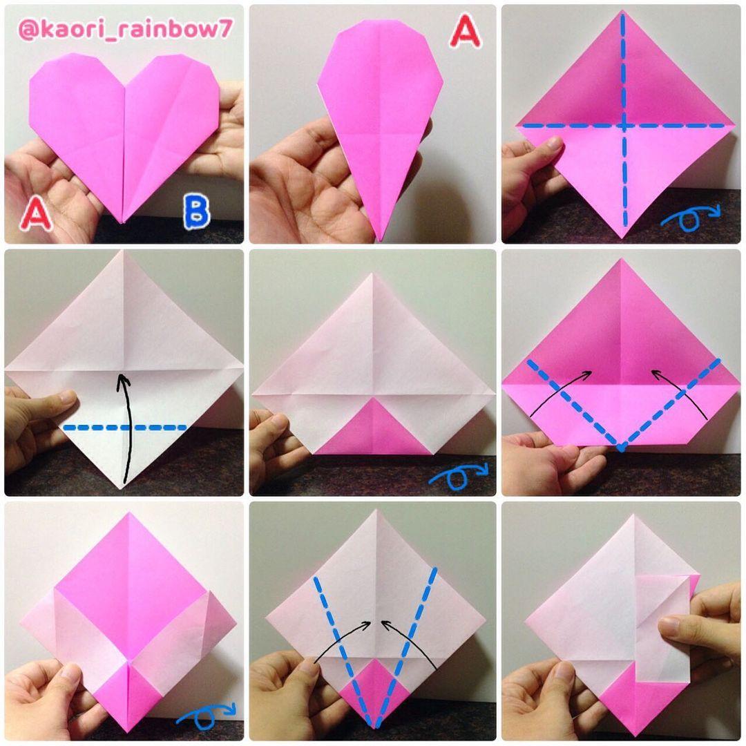Aパーツ 下中央は、折り順について、1段目の左から右へ。2段目、3段目も同様です。