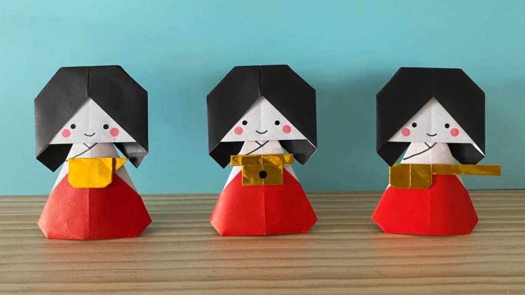 カミキィさんによる三人官女の折り紙