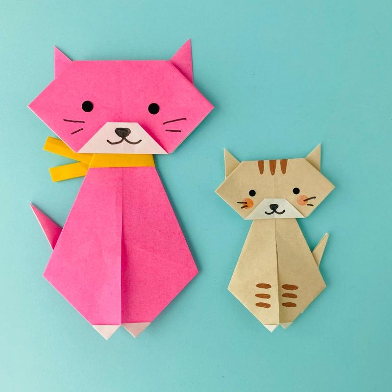 カミキィさんによるねこの折り紙