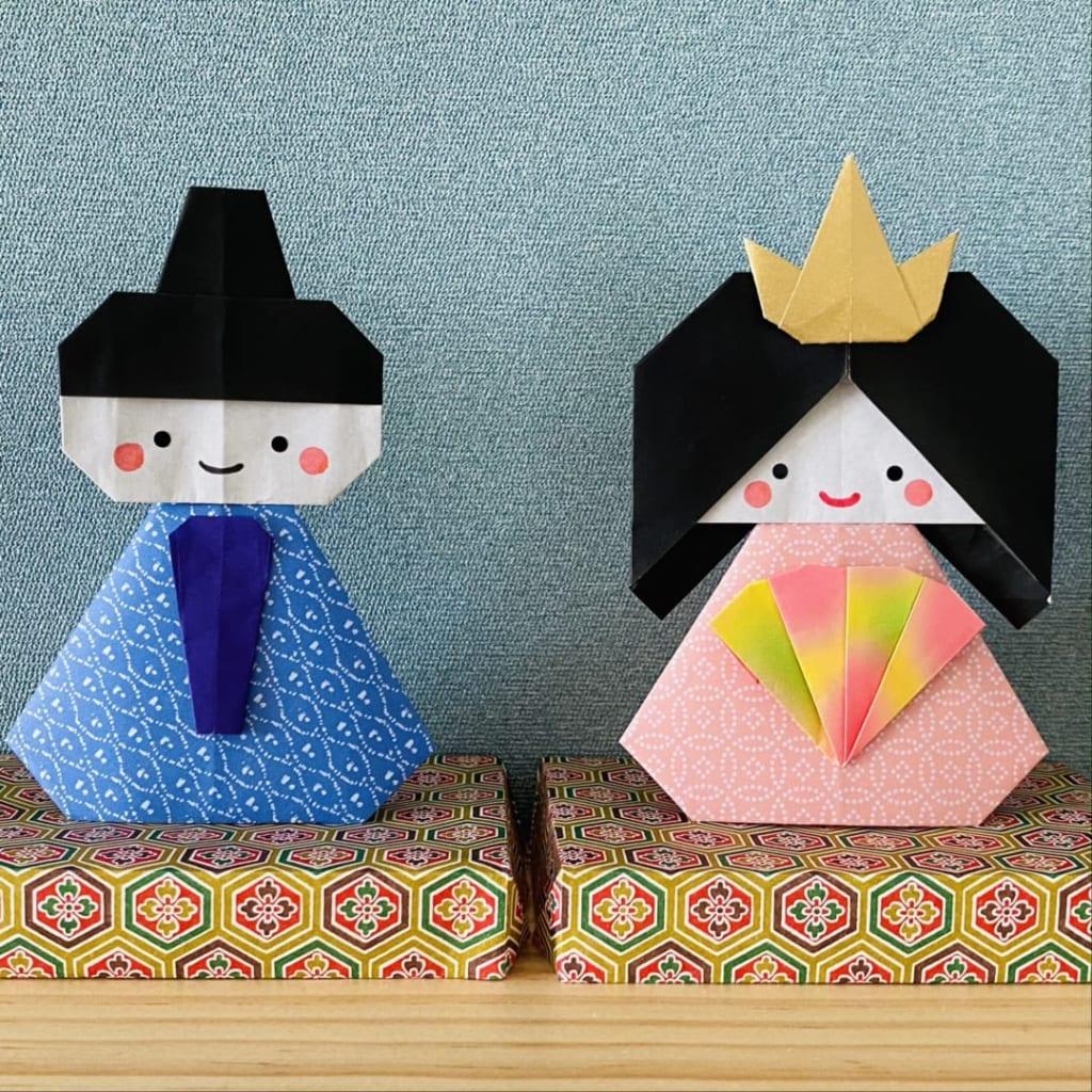 カミキィさんによるおひなさまの折り紙