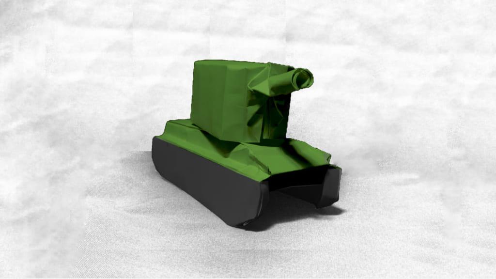 ハディさんによるソビエト KV-2重戦車の折り紙